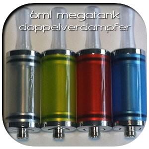 valeo-one e-Zigarette - Zubehör 6ml Megatank Alu-Doppelverdampfer - Bunt