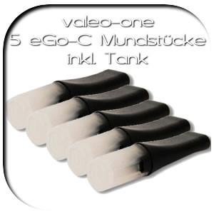 valeo-one e-Zigarette - Zubehör . Ersatzdepots Mundstücke Tanks eGo-T Typ-C