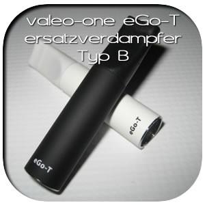 valeo-one e-Zigarette - Zubehör . Ersatzverdampfer eGo-T Typ-B