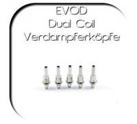EVOD Dual Coil Verdampferköpfe Version 2 - 5er Set - 0,8 Ohm
