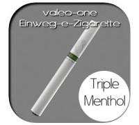 Valeo-One DIE Einweg-e-Zigarette aus Deutschland | Nikotin - Light | Triple-Menthol